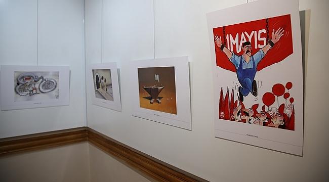 Engelli öğrencilerden resim ve el sanatları sergisi