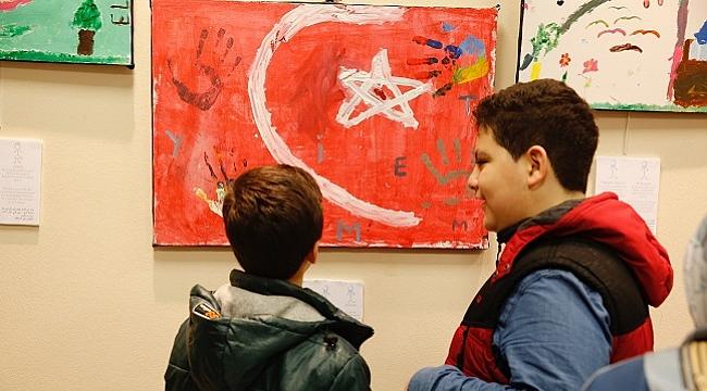 Türkiyeli ve Suriyeli çocuklardan ortak sergi