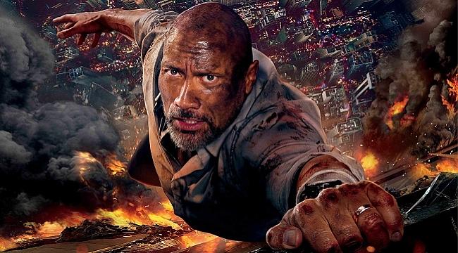 Dwayne Johnson'lı Gökdelen filminden afiş yayınlandı