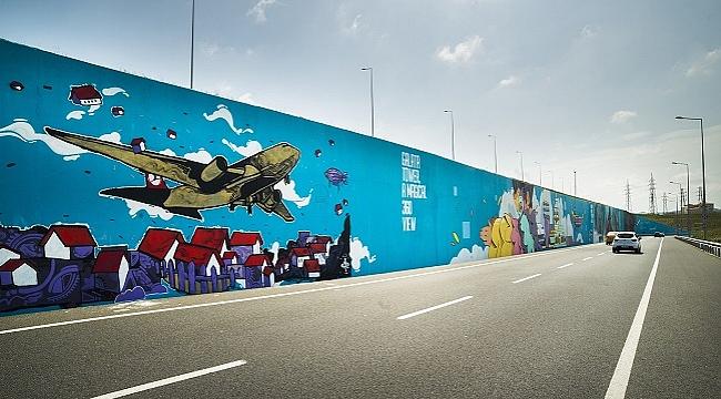 Türkiye'nin en büyük grafitisi İstanbul Havalimanı'na yapıldı