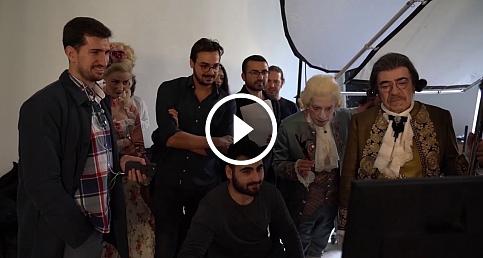 Okan Bayülgen ve Selçuk Yöntem'li Amadeus'un afiş çekimi 10 saat sürdü