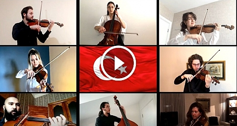 Limak Filarmoni Orkestrası 23 Nisan için #evdeçal'dı